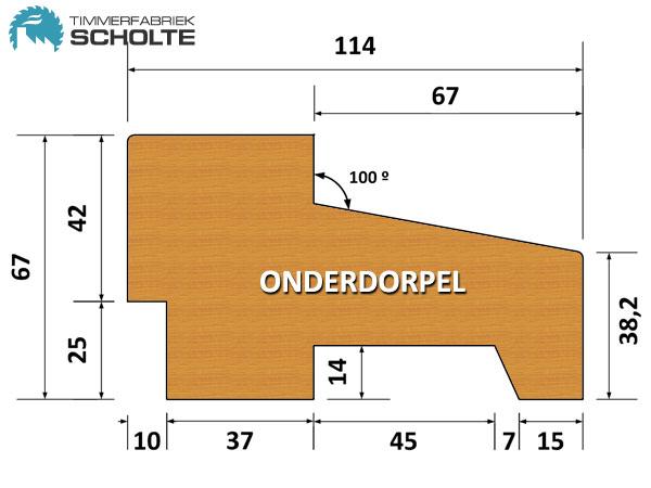 Timmerfabriek Scholte Kozijnen Detail Onderdorpel