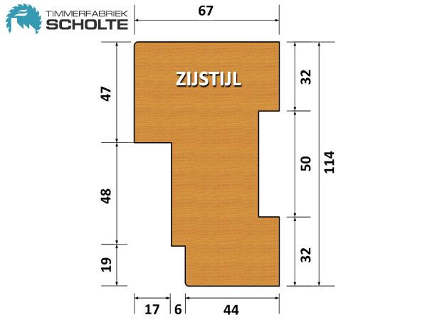 Timmerfabriek Scholte Kozijnen Detail Zijstijl